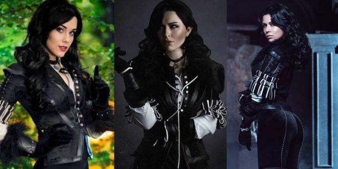 Девушки предстают в образе Йеннифэр, косплей на героиню «Ведьмака»
