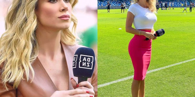 Роскошная телеведущая, итальянская спортивная журналистка Дилетта Леотта
