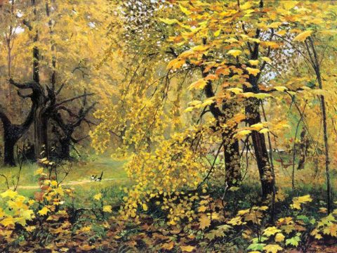 Золотая осень картина Остроухова