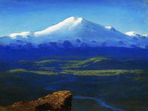 Снежные вершины (Эльбрус) картина Куинджи