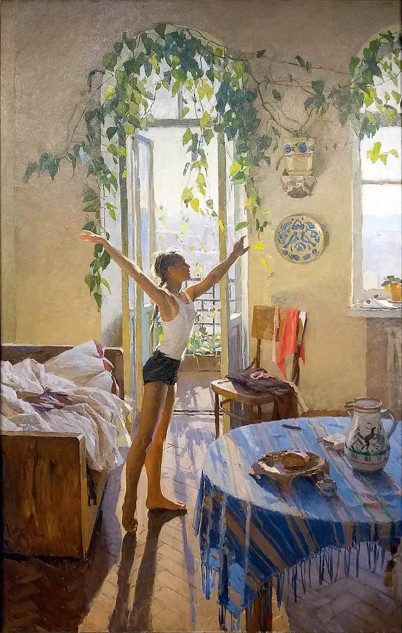 Яблонская картина Утро