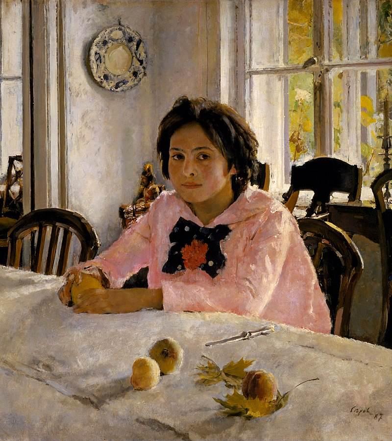 Девочка с персиками картина Серова