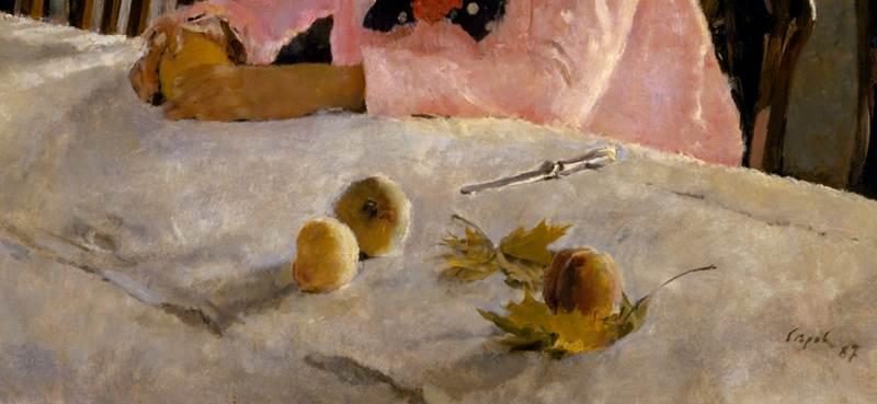Девочка с персиками фрагмент