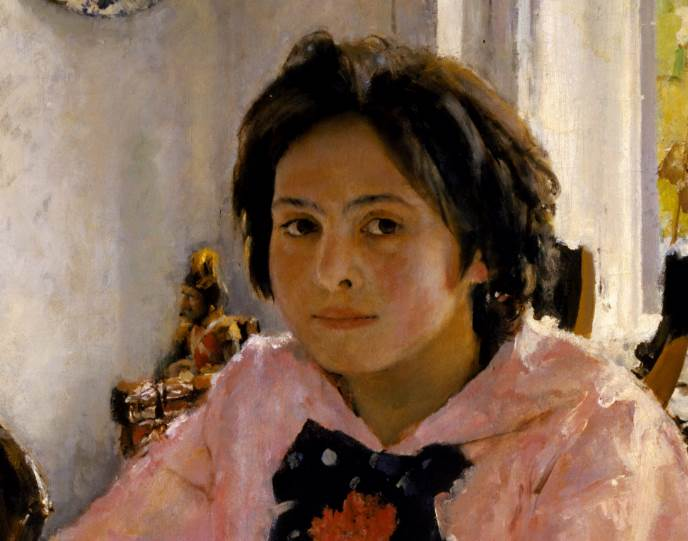 Девочка с персиками фрагмент картины