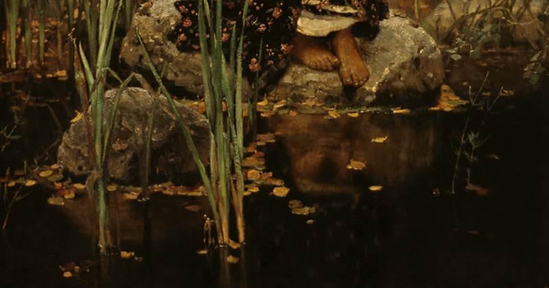Фрагмент картины Алёнушка Васнецова