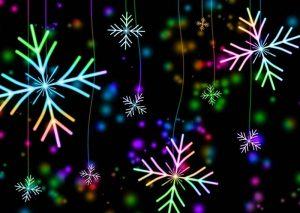 Снежинки картинка