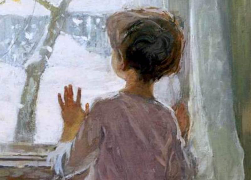 Зимапришла.Детство фрагмент картины