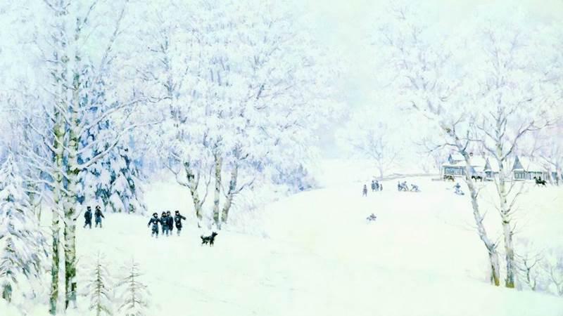 Русская зима. Лигачево картина Юона
