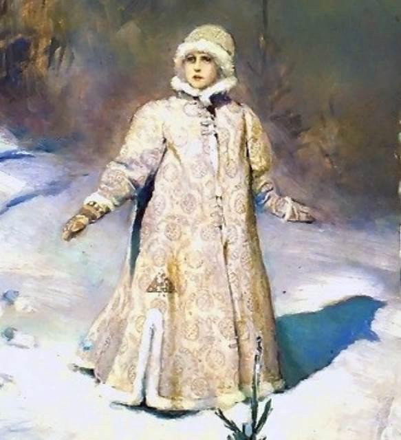Снегурочка Васнецова фрагмент
