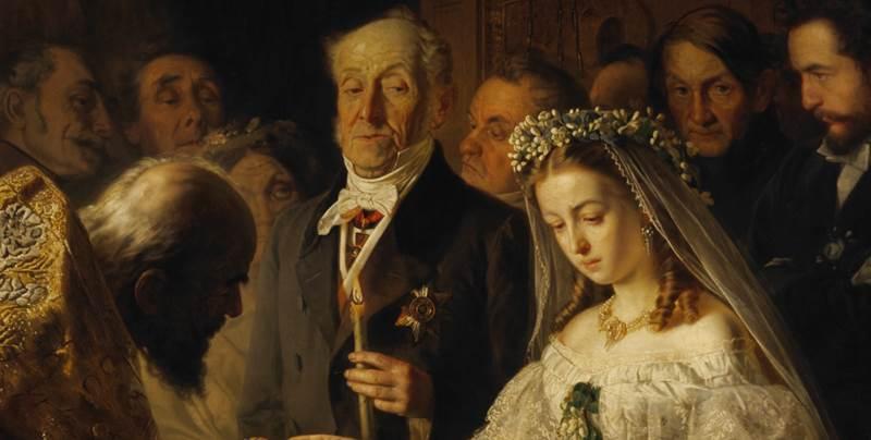 Неравный брак картина Пукирева фрагмент