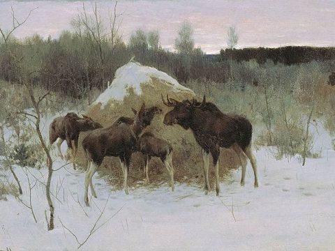 Картина Степанова Лоси