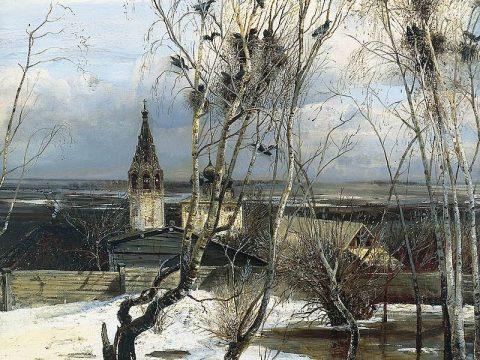 Саврасов картина Грачи прилетели