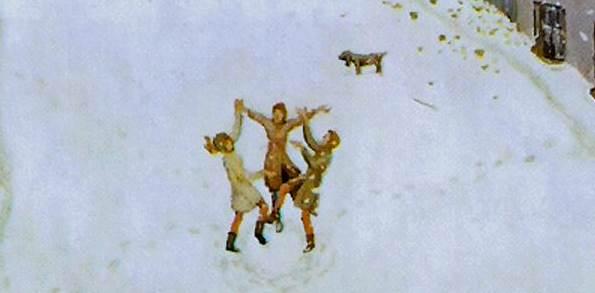 Первый снег фрагмент картины