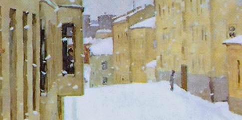 Фрагмент картины Первый снег Попов