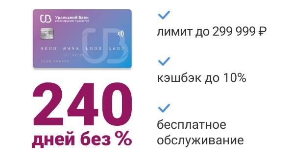 Кредитка Уральский банк