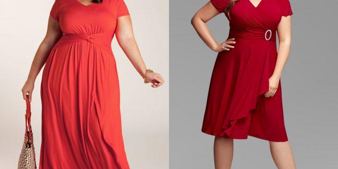 Как смотрятся пышные девушки в одежде красного цвета