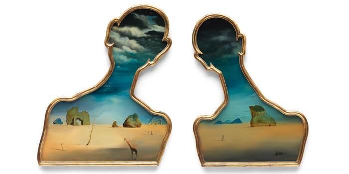 Сальвадор Дали Пара с головами, полными облаков