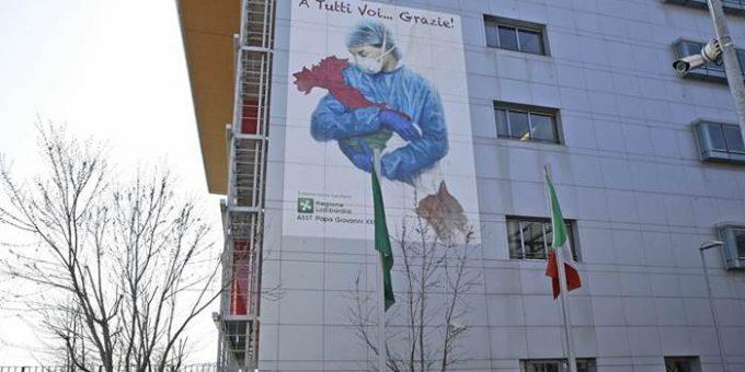 Иллюстрация Франко Риволли «Ангел Италии» стала символом борьбы с коронавирусом