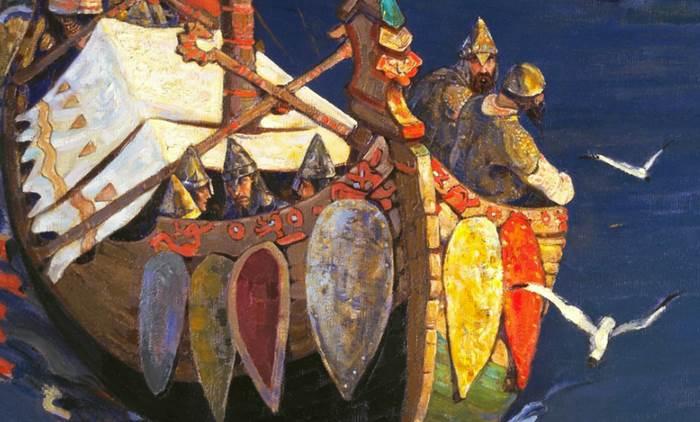 Заморские гости фрагмент картины купцы