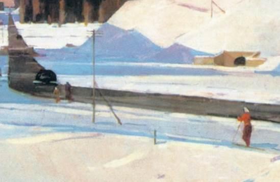 Февраль Подмосковье фрагмент картины