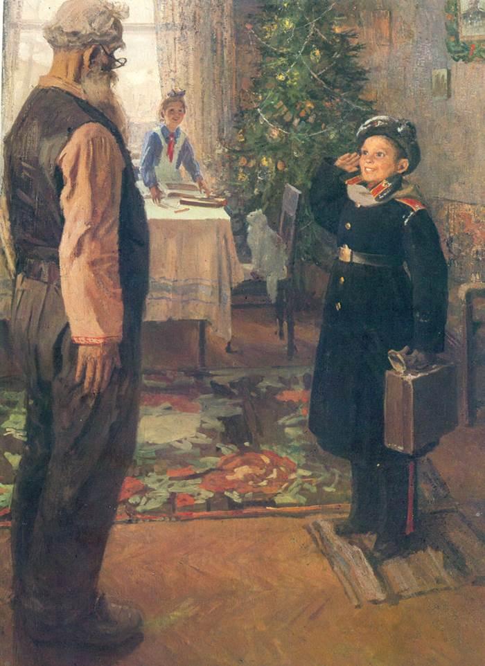 Прибыл на каникулы картина Решетникова