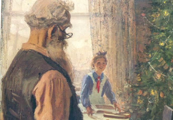 Фрагмент картины Прибыл на каникулы Решетникова