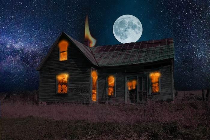 Сонник горящий дом толкование
