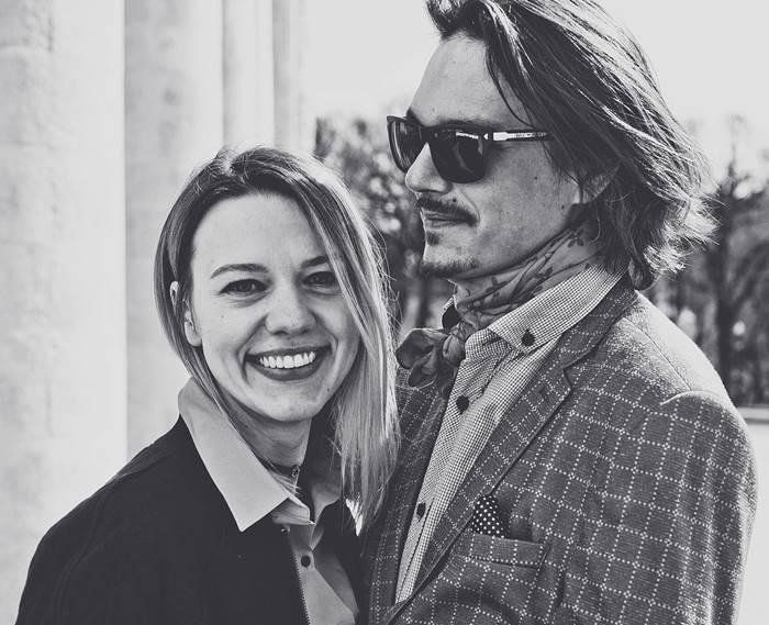 Мужчина и женщина чёрное-белое фото