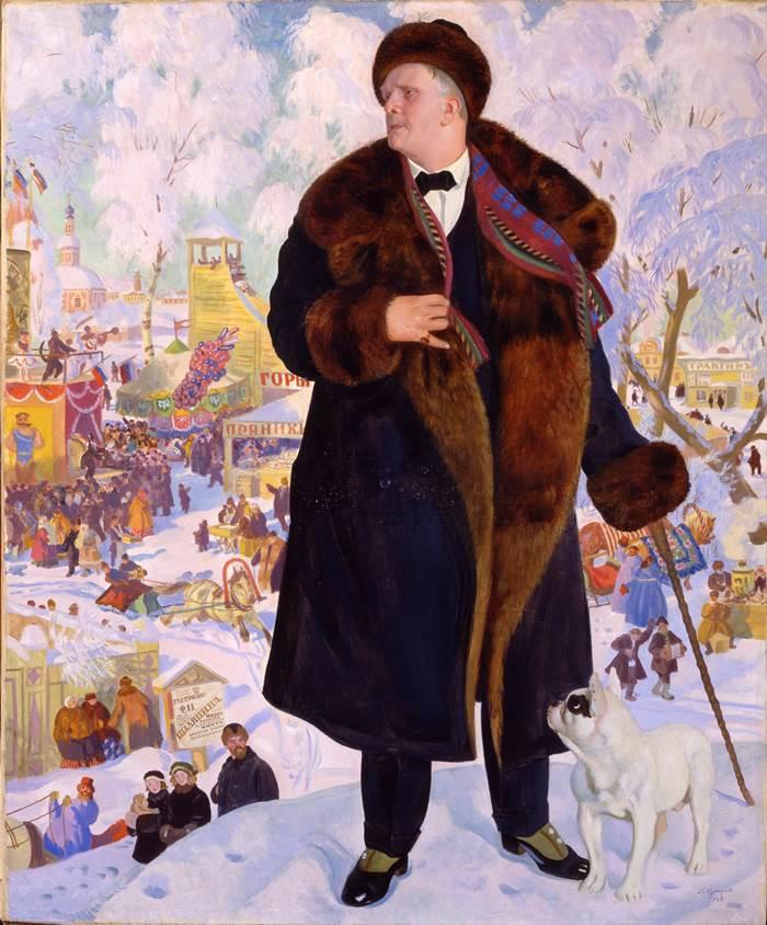 Портрет Ф. И. Шаляпина Кустодиев