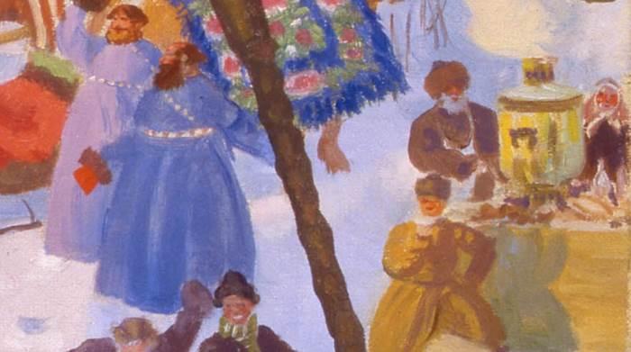 Портрет Шаляпина фрагмент картины Кустодиева