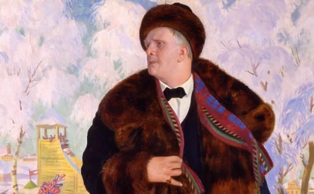 Портрет Ф. И. Шаляпина фрагмент картины