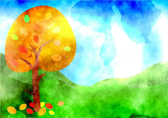 Осенний пейзаж рисунок