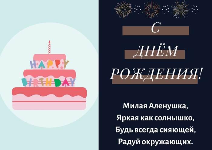 Поздравления с днём рождения Алёне