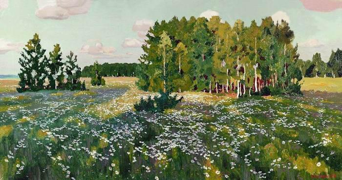 Картина Рылова Цветистый луг