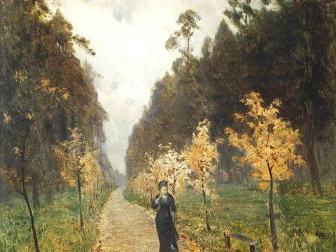 Картина Левитана Осенний день. Сокольники