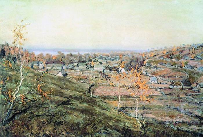 Картина Село Хмелевка Ромадина