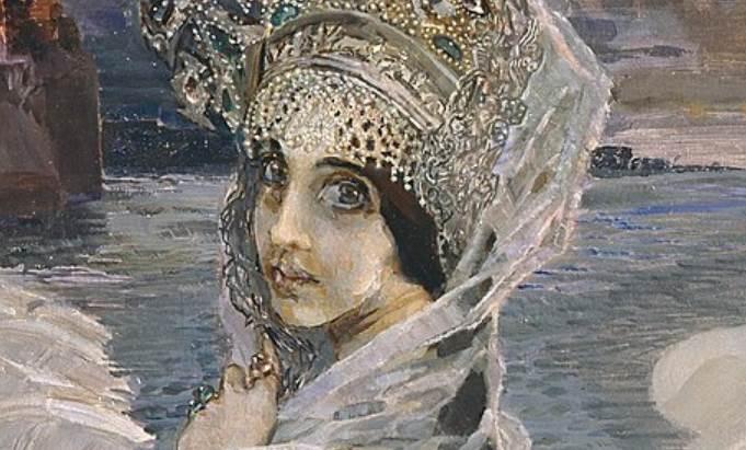 Фрагмент картины Царевна-Лебедь художника Врубеля