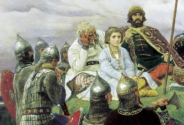 Фрагмент картины Васнецова Баян