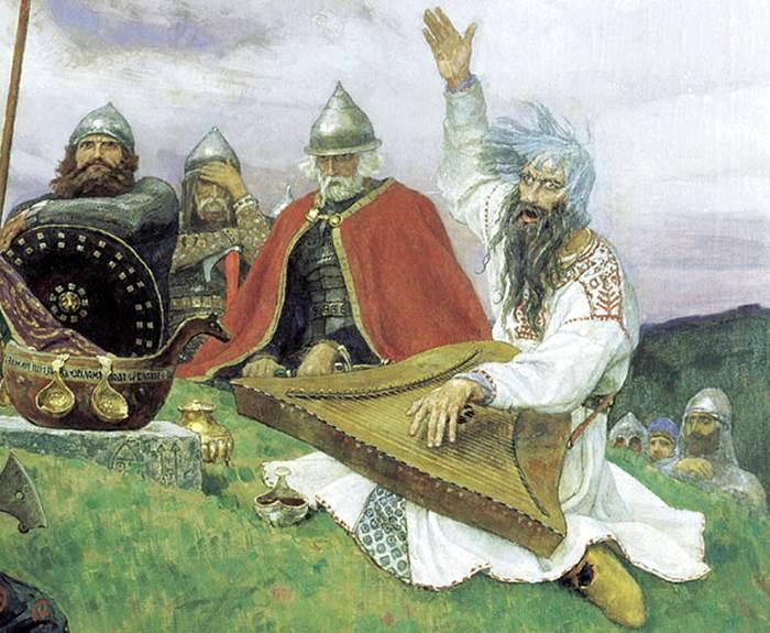Фрагмент картины Баян Васнецова