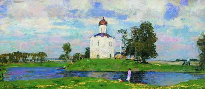 Церковь Покрова на Нерли картина художника Сергея Герасимова