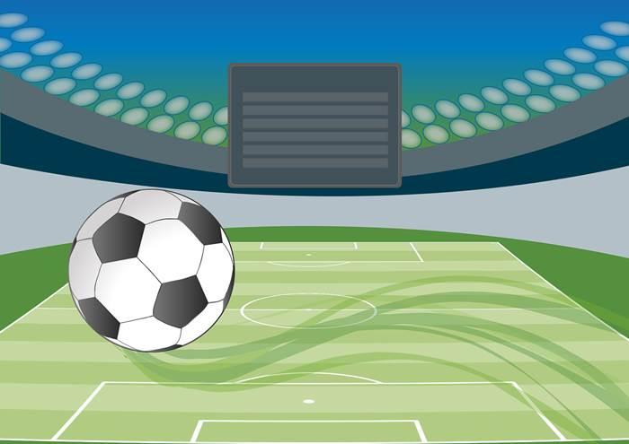 Футбольный стадион иллюстрация