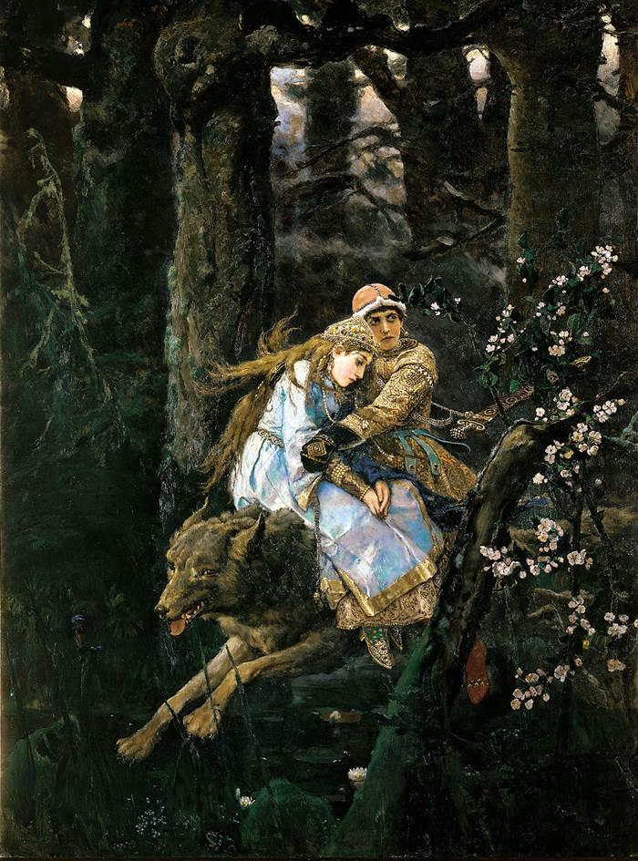 Иван-царевич на Сером волке картина Васнецова