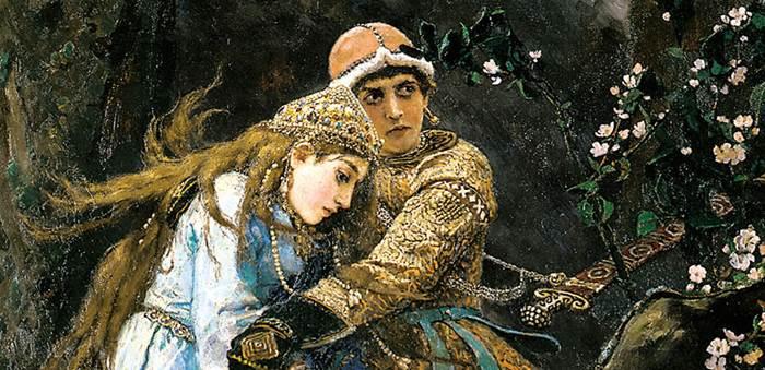 Фрагмент картины Иван-царевич на Сером волке