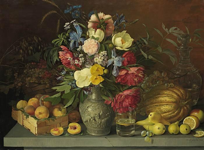 Цветы и плоды картина Хруцкого